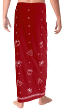 "Load image into Gallery viewer, LA LEELA Christmas santa Solid Beach wear Swim Bathing Mens 72""X42"" Red_6653"