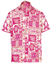 Load image into Gallery viewer, la-leela-mens-regular-size-beach-hawaiian-shirt-for-aloha-tropical-beach-front-pocket-short-sleeve-white