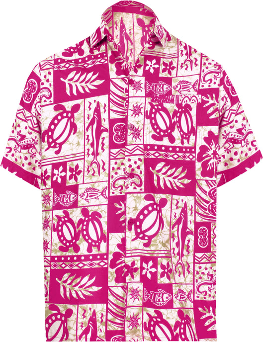 la-leela-support-pink-breast-cancer-shirt-aquatic-life-hawaiian-beach-shirt-for-mens-casual-button-down-tropical-aloha-white_w127