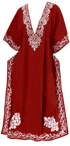 la-leela-pv-solid-long-caftan-beachwear-dress-girls-red_909-osfm-14-18w-l-2x