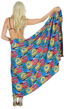 "Load image into Gallery viewer, La Leela Soft Light Swimwear Women Wrap Swimsuit Sarong Printed 88""X42"" Matching_1_3045"