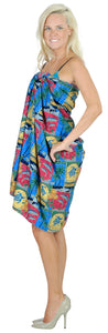 "La Leela Soft Light Swimwear Women Wrap Swimsuit Sarong Printed 88""X42"" Matching_1_3045"