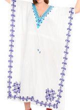 Load image into Gallery viewer, la-leela-lounge-rayon-solid-long-caftan-vacation-top-girls-white_1008-osfm-14-32w-l-5x