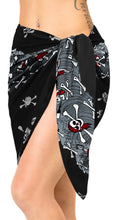 Load image into Gallery viewer, la-leela-likre-swimwear-wrap-party-girl-beach-sarong-printed-78x21-black_369
