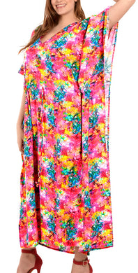 la-leela-lounge-likre-digital-long-caftan-beach-dress-OSFM 14-22W [L- 3X]-Multicolor_G267