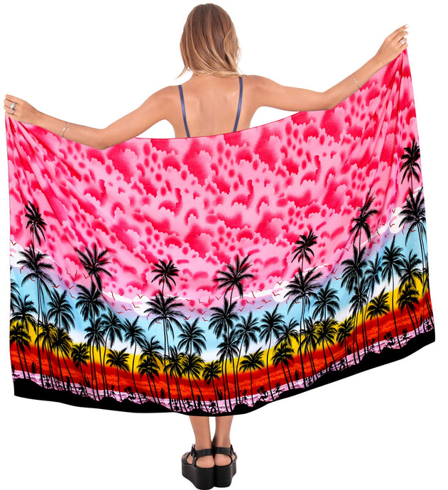 la-leela-beach-bikini-cover-up-wrap-maxi-women-bathing-suit-sarong-Pink_G262