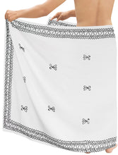Load image into Gallery viewer, la-leela-men-sarong-rayon-solid-hawaiian-swimsuit-wrap-casual-boys-72x42-white_6686