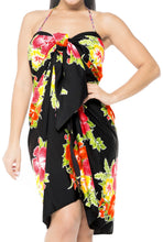 Load image into Gallery viewer, la-leela-swimwear-soft-light-hawaiian-beach-bikini-wrap-swimsuit-sarong-printed-78x42-red_67