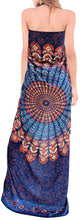"Load image into Gallery viewer, LA LEELA Rayon Women Swimsuit Cover Up Sarong Printed 78""X39"" Royal Blue_4916 Blue_D296"