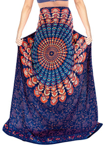 "LA LEELA Rayon Women Swimsuit Cover Up Sarong Printed 78""X39"" Royal Blue_4916 Blue_D296"
