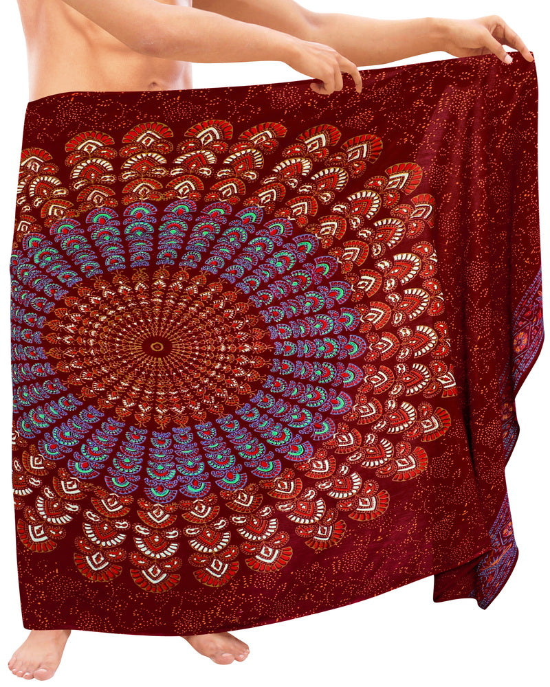 la-leela-men-sarong-rayon-printed-swimwear-casual-beach-pareo-mens-wrap-72x42-maroon_4934