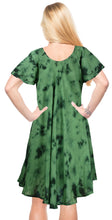 Load image into Gallery viewer, LA LEELA Rayon Tie Dye Maxi Wedding Designer Casual DRESS Beach Cover upes Green 3403 Plus Size