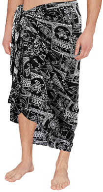 LA LEELA Men Sarong Soft Light Printed Casual Resort Pareo Boys Wrap 72