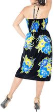 Load image into Gallery viewer, la-leela-evening-beach-swimwear-soft-printed-top-womens-skirt-strapless-tube-dress-blue-854-one-size