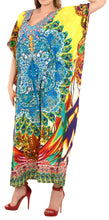Load image into Gallery viewer, la-leela-lounge-likre-digital-long-caftan-dress-women-multicolor_742-osfm-14-22w-l-3x