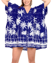 Load image into Gallery viewer, LA LEELA Soft fabric Cover Up Lounge Girl OSFM 14-28 [L-4X] Royal Blue_1825 Blue_R619