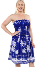 Load image into Gallery viewer, la-leela-evening-beach-swimwear-likre-short-tube-dress-swimwear-womens-blue-osfm-2-14-xs-l