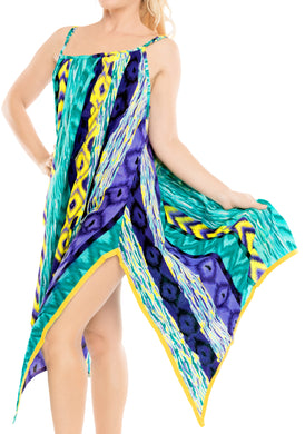 la-leela-bikni-swimwear-soft-fabric-printed-beachwear-loose-cover-up-OSFM 14-16W [L- 1X]-Green_F252