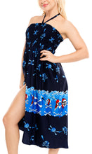 Load image into Gallery viewer, la-leela-womens-one-size-beach-dress-tube-dress-Navy-blue-one-size-halloween