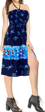 Load image into Gallery viewer, LA LEELA Women's One Size Beach Dress Tube Dress navy Blue One Size Halloween