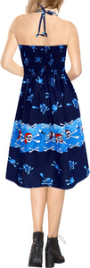 LA LEELA Women's One Size Beach Dress Tube Dress navy Blue One Size Halloween