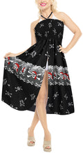Load image into Gallery viewer, la-leela-womens-one-size-beach-dress-tube-dress-Black-one-size-halloween