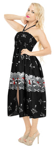 LA LEELA Women's One Size Beach Dress Tube Dress Black One Size Halloween