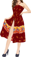 Load image into Gallery viewer, LA LEELA Women's One Size Beach Dress Tube Dress Red One Size Halloween