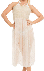 la-leela-evening-beach-swimwear-chiffon-printed-evening-tube-dress-hawaiian-white-694-one-size