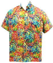 Load image into Gallery viewer, la-leela-mens-aloha-hawaiian-shirt-short-sleeve-button-down-casual-beach-party-drt106