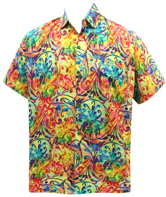 LA LEELA Men's Aloha Hawaiian Shirt Short Sleeve Button Down Casual Beach Party DRT106