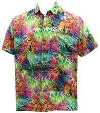 Load image into Gallery viewer, la-leela-mens-casual-beach-hawaiian-shirt-for-aloha-tropical-beach-front-pocket-short-sleeve-multicolor