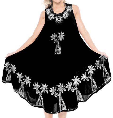 la-leela-casual-dress-beach-cover-up-rayon-batik-aloha-beach-women-top-floral-black-525-plus-size