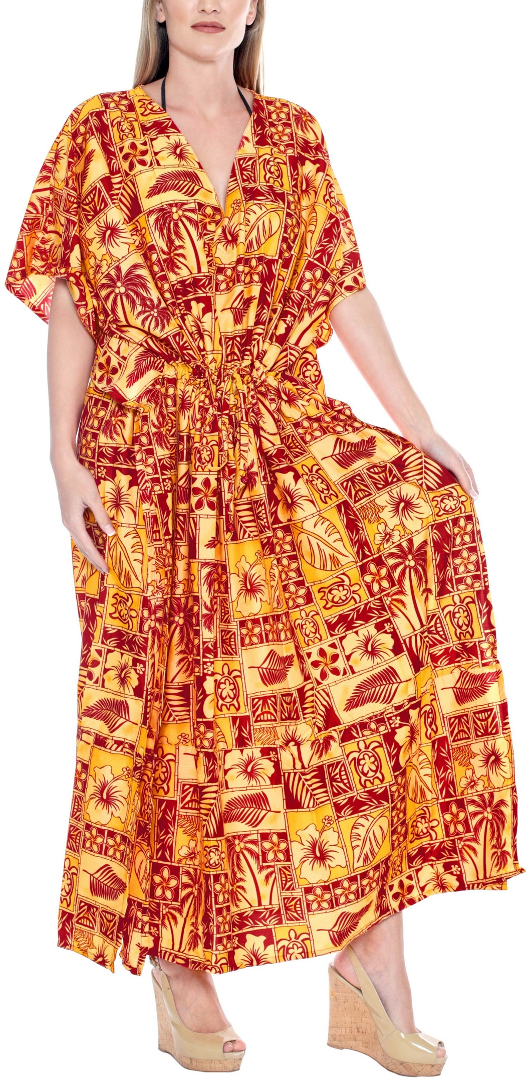 la-leela-lounge-caftan-likre-printed-autumn-winter-plus-size-boho-maxi-kimono-loose-lounger-drawstring-aloha-over-size-red