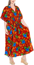 Load image into Gallery viewer, la-leela-lounge-caftan-solid-plain-plus-size-maxi-kimono-lounger-drawstring-aloha-over-size-red