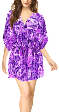 la-leela-bikni-swimwear-soft-fabric-printed-beachwear-loose-cover-up-OSFM 16-28W [XL- 4X]-Violet_O236