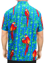 Load image into Gallery viewer, la-leela-front-men-casual-beach-hawaiian-shirt-for-aloha-tropical-beach-front-short-sleeve-blue_w415