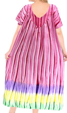Load image into Gallery viewer, la-leela-cotton-tie-dye-beach-formal-long-casual-dress-beach-cover-up-womens-pink-88-one-size