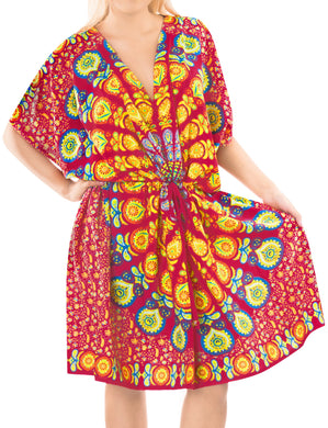 la-leela-bikni-swimwear-chiffon-digital-hd-print-tunic-vintage-cover-up-Yellow_K820