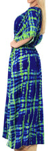 Load image into Gallery viewer, la-leela-lounge-rayon-printed-long-caftan-nightgown-women-green_565-osfm-10-16w-m-1x