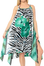Load image into Gallery viewer, la-leela-bikni-swimwear-soft-fabric-printed-blouse-cover-ups-women-osfm-14-16-l-1x-green_6369