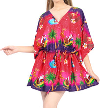 Load image into Gallery viewer, la-leela-christmas-santa-claus-spring-summer-cover-up-osfm-14-28l-4x-pink_2139