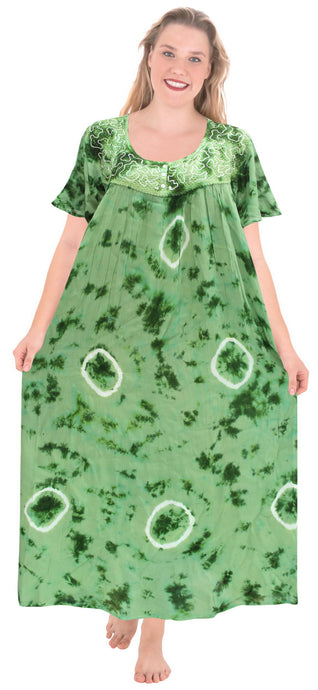 la-leela-rayon-tie-dye-maxi-tube-halter-casual-dress-beach-cover-upes-top-womens-green-123-plus-size