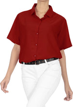 Load image into Gallery viewer, la-leela-mens-beach-hawaiian-casual-aloha-button-down-short-sleeve-shirt-red_x527