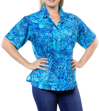 la-leela-womens-beach-casual-hawaiian-blouse-short-sleeve-button-down-shirts-plus-blue
