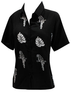 la-leela-mens-beach-hawaiian-casual-aloha-button-down-short-sleeve-shirt-black
