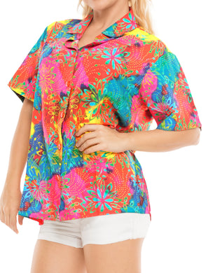 la-leela-womens-beach-casual-hawaiian-blouse-short-sleeve-button-down-shirt-multicolor