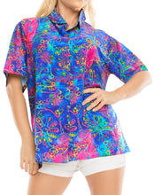 Load image into Gallery viewer, la-leela-womens-beach-casual-hawaiian-blouse-short-sleeve-button-down-shirt-multicolor-drt-1