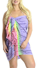 Load image into Gallery viewer, LA LEELA Women's Swimsuit Cover Up Sarong Bikini Swimwear Beach Cover-Ups Wrap Skirt Large Maxi GB