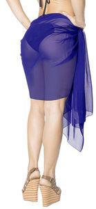 la-leela-women-beachwear-mini-sarong-bikini-cover-up-wrap-dress-solid-7